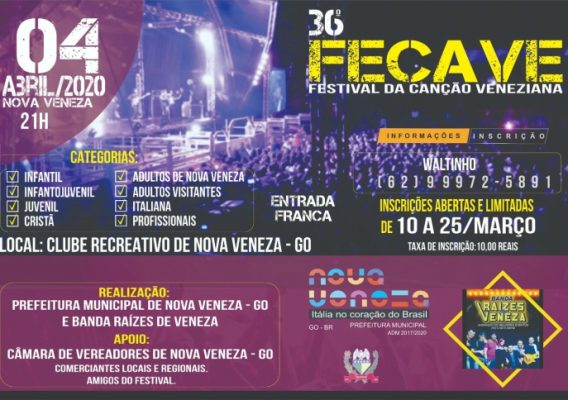 36º FECAVE – Festival de Música da Canção Veneziana