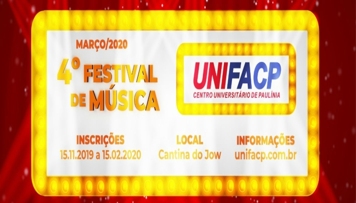 4ª festival de música UNIFACP