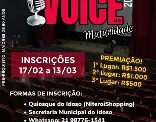 Festival de música Voice da Maturidade 2020: Inscrições  Abertas 