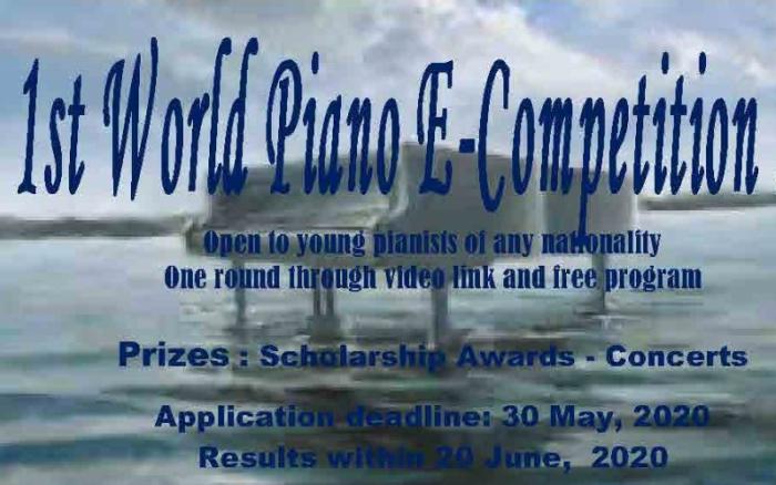 Concurso de música mundial online de pianistas